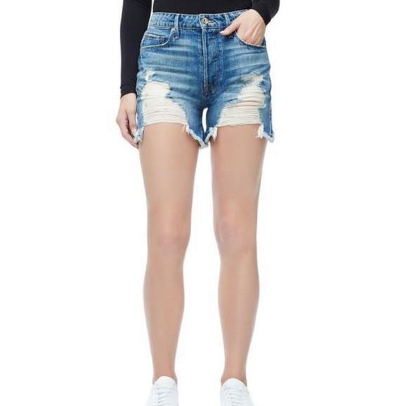 Good American Pants - NWT Good American High Rise Bombshell Shorts 10 30
